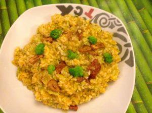 arroz brocoli chorizo