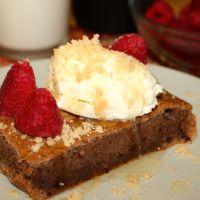Brownie rápido de chocolate y plátano (receta sin y con thermomix)