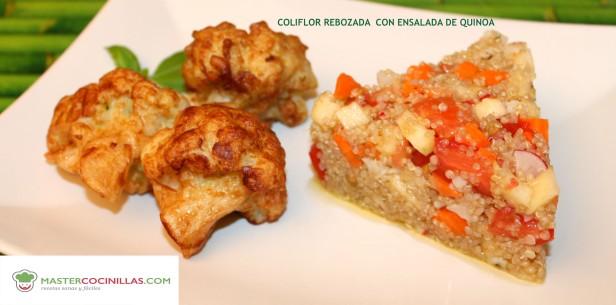 ensalada quinoa y coliflor rebozada MASTERCOCINILLAS