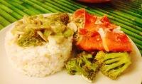 arroz con coliflor y jamon