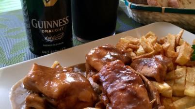 Pollo a la guinness