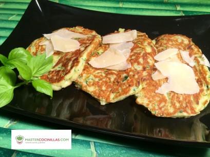 tortitas calabacín parmesano foto