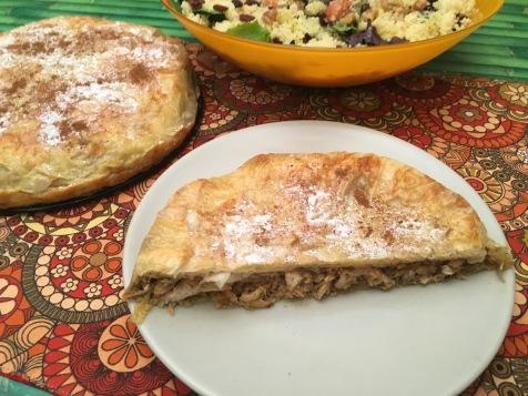 pastela pollo ensalada cuscús