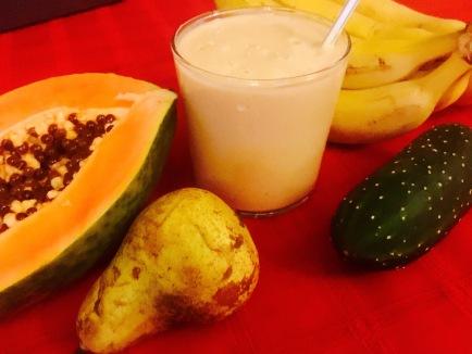 batido papaya naranja limon soja vainilla pera platano