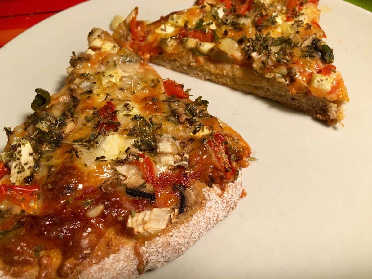 Pizza con harina de espelta