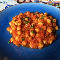 Garbanzos al estilo Chana Masala (cocina India)