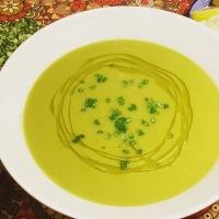Crema de guisantes secos (Bissara bil jilbana)