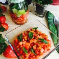 Juego de Blogueros 2.0: Ensalada de fresas y pimiento rojo