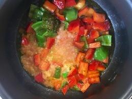 arroz caldoso pimientos tomate