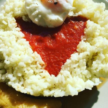 arroz con tomate corazon