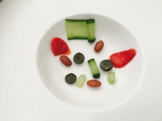 base sopa fria de fresas frutas