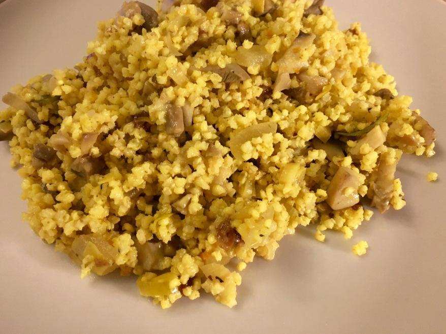 Mijo a la cúrcuma con hinojo (medicina natural comestible)
