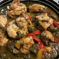 Pollo al ron  (Receta de la República Dominicana)