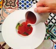 sopa de fresas