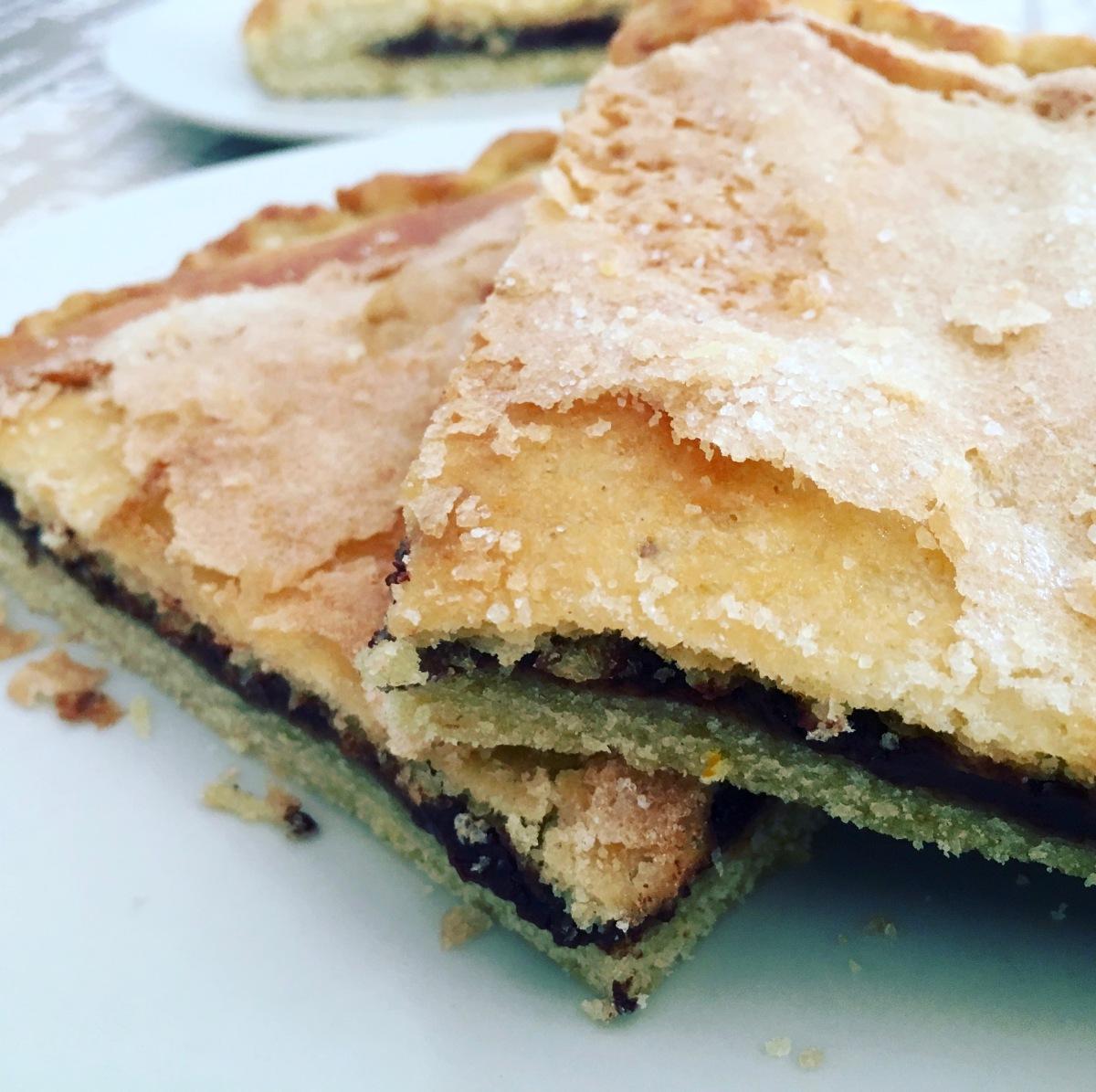 Torta de la Virgen de las Angustias con chocolate (receta tradicional de  Granada)