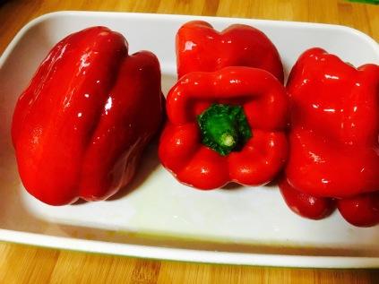 ensalada pimientos - pimientos rojos frescos