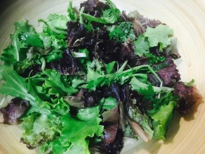 ensalada cuscus - brotes mezcla lechugas