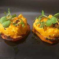 Humus de boniato  (crema de garbanzos y batata, papa dulce o camote)