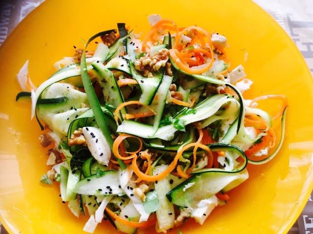 ensalada calabacin zanahoria e hinojo